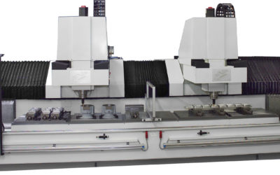 Dual Spindle – One Large Working Envelope.